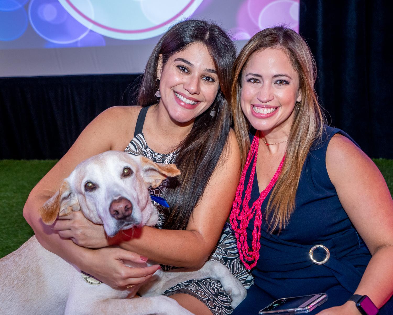 Evelyn Torres con Nose y Yina Cruz. (Suministrada)