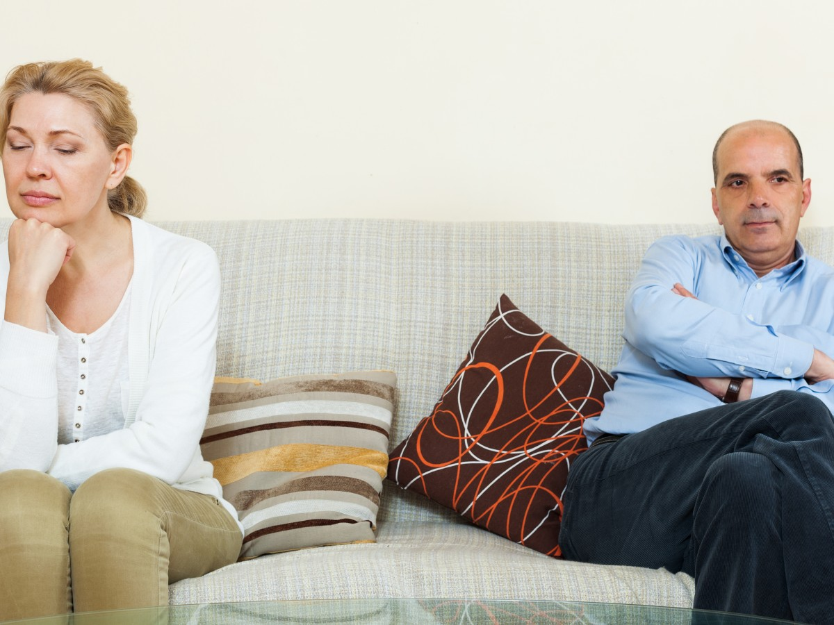 Cuando la separación llega después de dos o más décadas de matrimonio