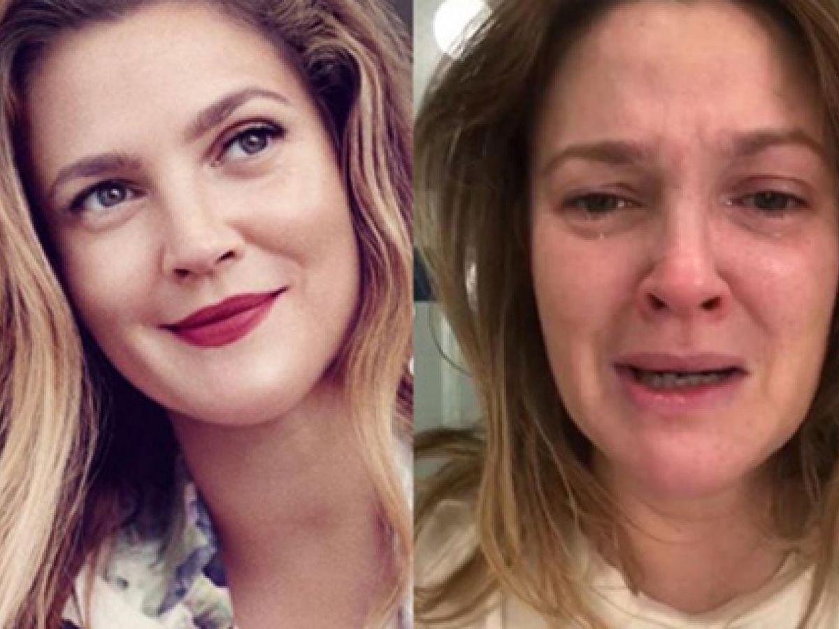 Drew Barrymore comparte su lado más real en redes