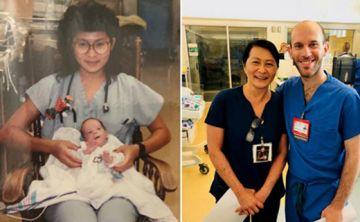 Lo cuidó hace 30 años y ahora descubrieron que trabajan en el mismo hospital